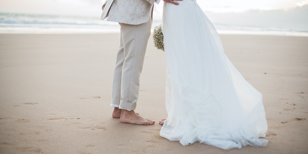 Wedding ceremony on the Portuguese beach