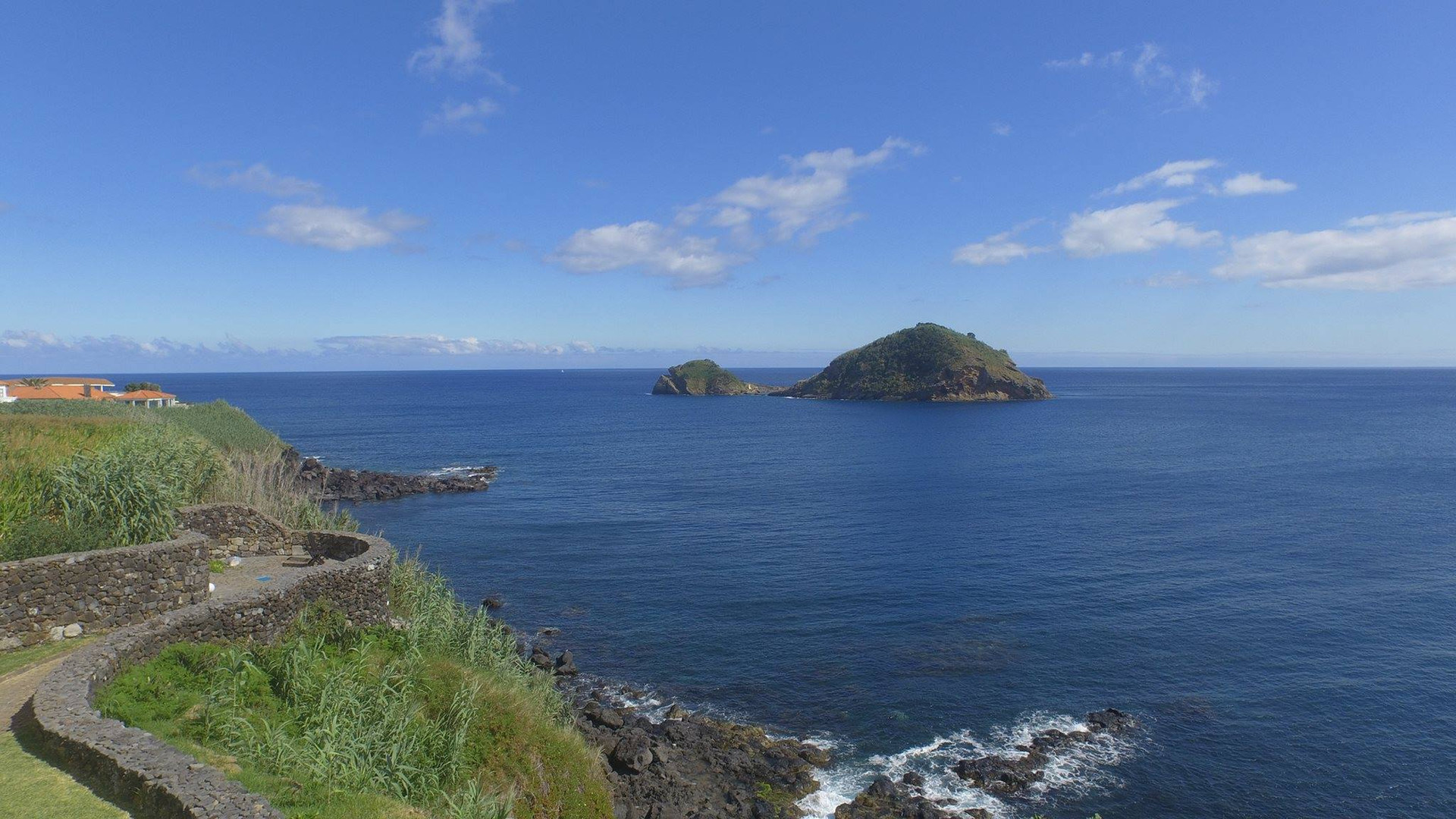 Seaview of wedding venue in the Azores