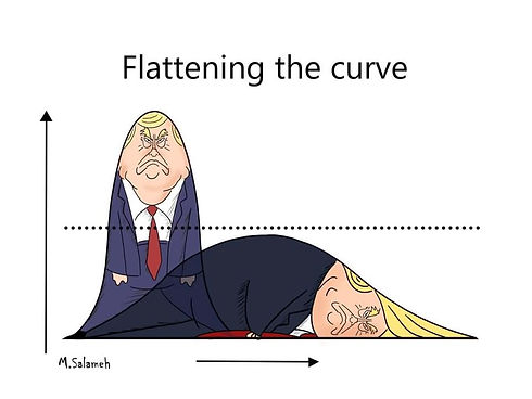 Mahmoud Salameh Trump Corona.jpg