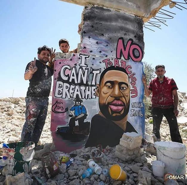Mural in Idlib, Syria