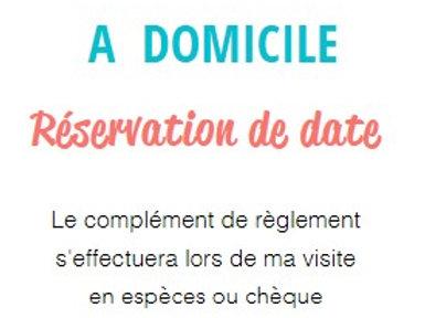 RESERVATION DE DATE pour Entretien à domicile