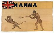 The personal flag of Itsekiri chief Nana Olomu (1852-1916).