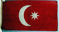 National flag of Turkey and its empire from 1844.