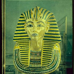 King Tutankhamen's Golden Funerary Mask. From the Valley of the Kings in Egypt.