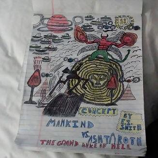 Concept Artwork by Emmanuel Isaiah Smith. Mankind vs. Ashtaroth.