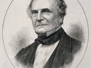 A Wood Engraving of Charles Babbage, the inventor of the computer.