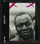 """[Idi Amin photographed at the United Nations General Assembly] Contributor Names Gotfryd, Bernard, photographer Created / Published [1975] Subject Headings -  Amin, Idi,--1925-2003 Headings Photographic prints--1970-1980. Portrait photographs--1970-1980. Genre Portrait photographs--1970-1980 Photographic prints--1970-1980 Notes -  Gift; Bernard Gotfryd; 2004; (DLC/PP-2004:032). -  Title devised by Library staff. -  Forms part of the Bernard Gotfryd photograph collection (Library of Congress). -  Original negative series: LC-GB15-A-13. Medium 1 photographic print. Call Number/Physical Location LOT 14191-A, no. 64 [P&P] Repository Library of Congress Prints and Photographs Division Washington, D.C. 20540 USA Digital Id ppmsca 12425 //hdl.loc.gov/loc.pnp/ppmsca.12425 Library of Congress Control Number 2006679787 OCLC Number 14574161 Reproduction Number LC-DIG-ppmsca-12425 (digital file from original item) Rights Advisory No known restrictions on publication. For information see """"Bernard G"""