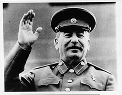 Joseph Stalin in a 20th century military parade.