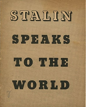 """A Compilation of his political speeches. """"The full text of the report ... delivered on November 6, at the session of the Moscow city soviet of deputies of the working people, dedicated to the twenty-fourth anniversary of the October socialist revolution."""""""