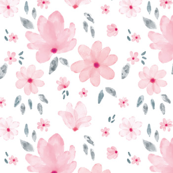 Magnolia Floral Seamless Pattern