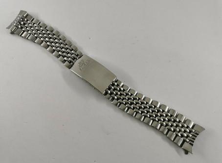 BUYER BEWARE! Enicar vintage 20mm beads of rice BOR bracelet for Sherpa, Jet, Aqua Graph