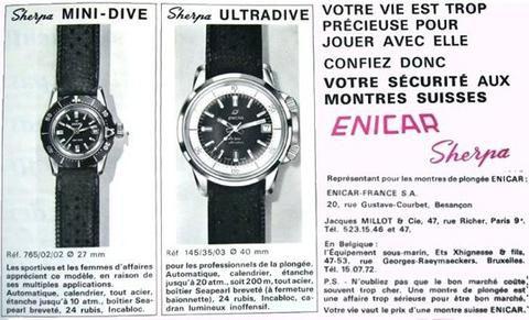Mini Dive & Ultradive advert 1960's