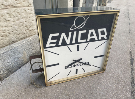 Enicar Clock in St Gallen CH