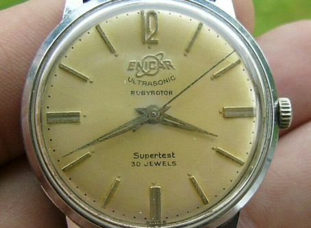 One to watch!!!!  Vintage men's Enicar Supertest Rubyrotor automatic watch in good working order