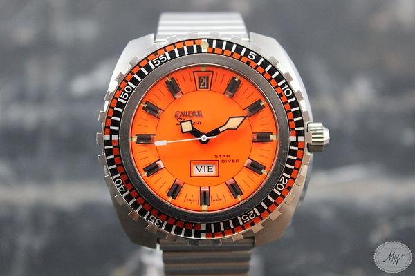 Sherpa Star Diver Orange Dial Rare