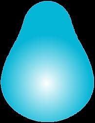 a blue pear