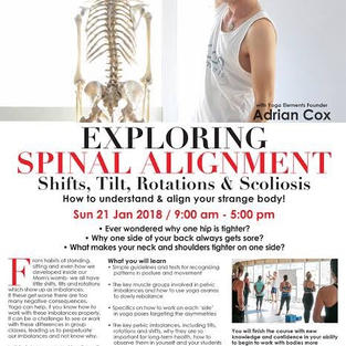 Adrian Cox yoga spinal alignment workshop