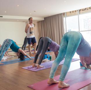 Adrian Cox teaching at Yoga Elements Bangkok