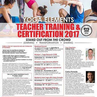 Yoga Elements 2017 yoga teacher training