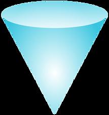 a blue cone