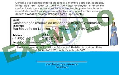 Credencia Confederação Brasileira Hirma Eliana