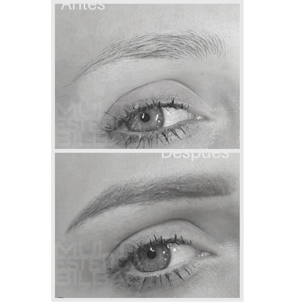 antes y despues micropigmentacion bilbao cejas eyeliner delineado perfilado labial labios bilbao resultados