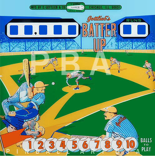 Batter Up 1970 Gottlieb