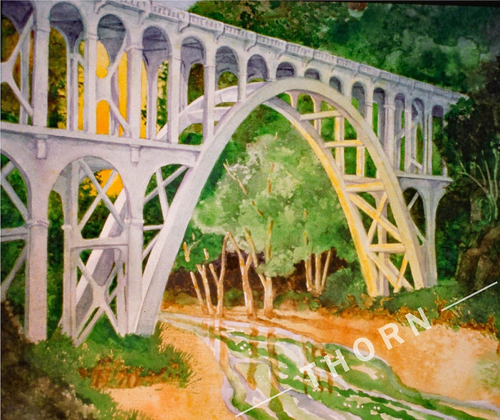 Cape Creek Bridge by Karen Thornberg