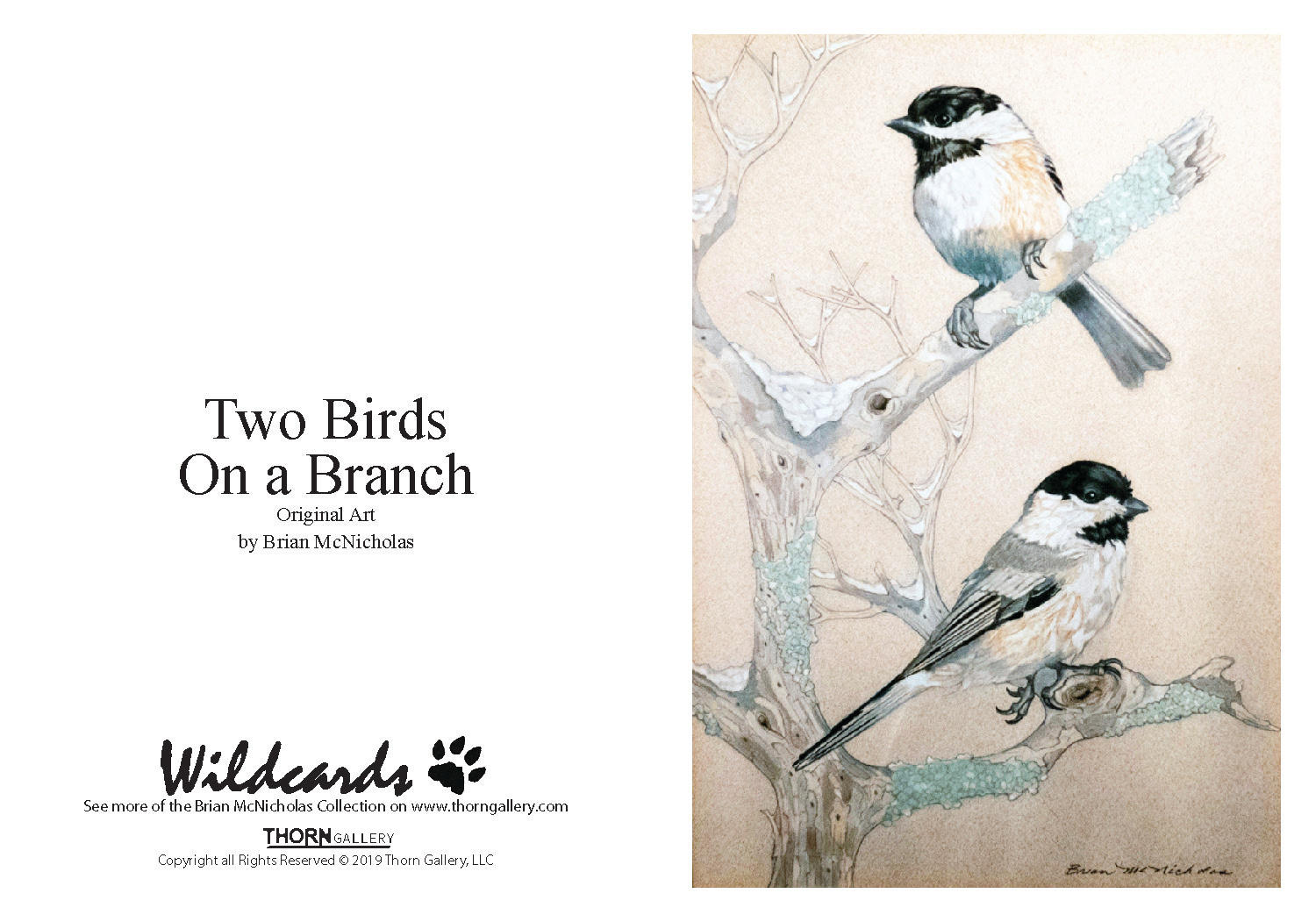 Two Birds On a Branch Greeting Card