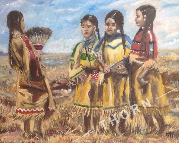 American Indian Girls by Inna Makarichev