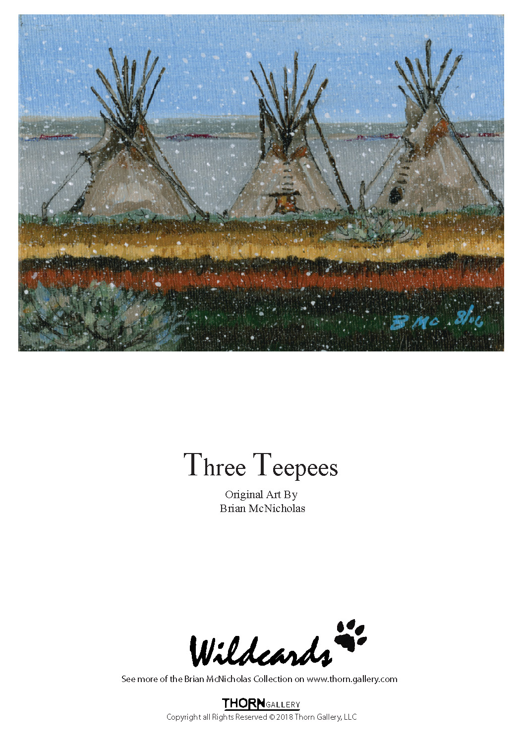Three Teepee Greeting Card