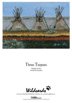 Three Teepee Greeting Card