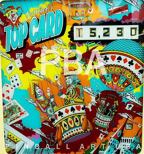 Top Card 1974 Gottlieb