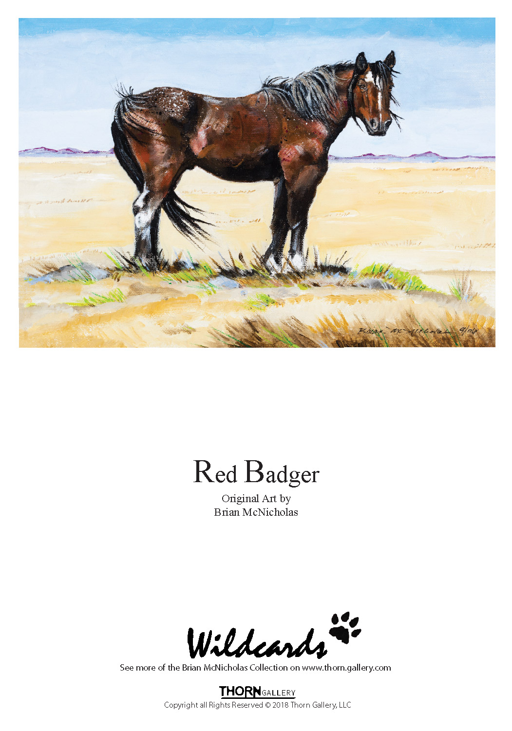 Red Badger Greeting Card