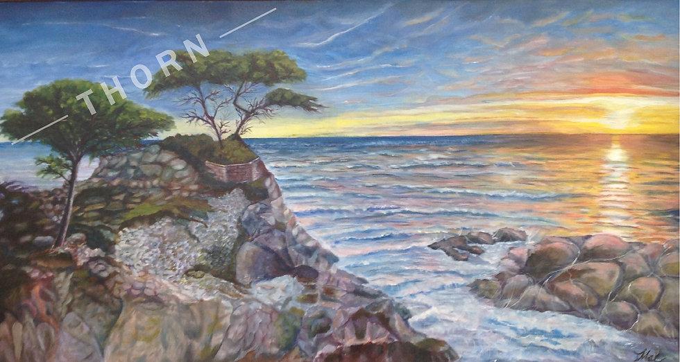 Sunset In Monterey by Inna Makarichev