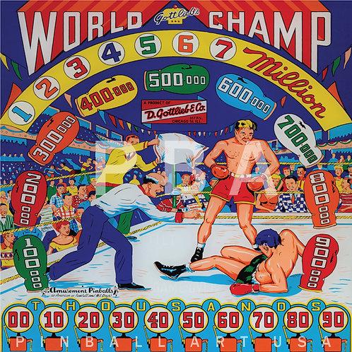 World Champ 1957 Gottlieb