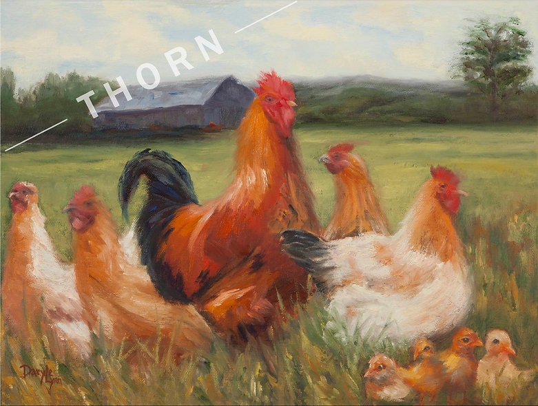 Proud Rooster by Daryle Lynn Cornelison