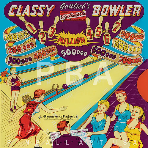 Classy Bowler    1956 Gottlieb