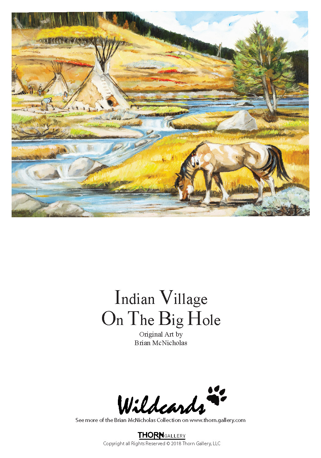 Indian Village On the Big Hole Greeting