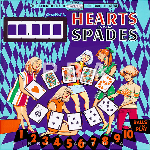 Hearts and Spades 1969 Gottlieb