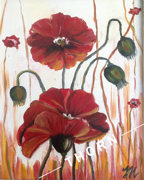 2 Poppies With Smile by Inna Makarichev