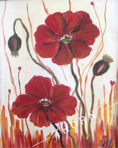 2 Poppies by Inna Makarichev
