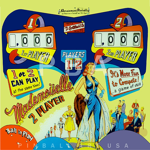 Mademoiselle 1959 Gottlieb