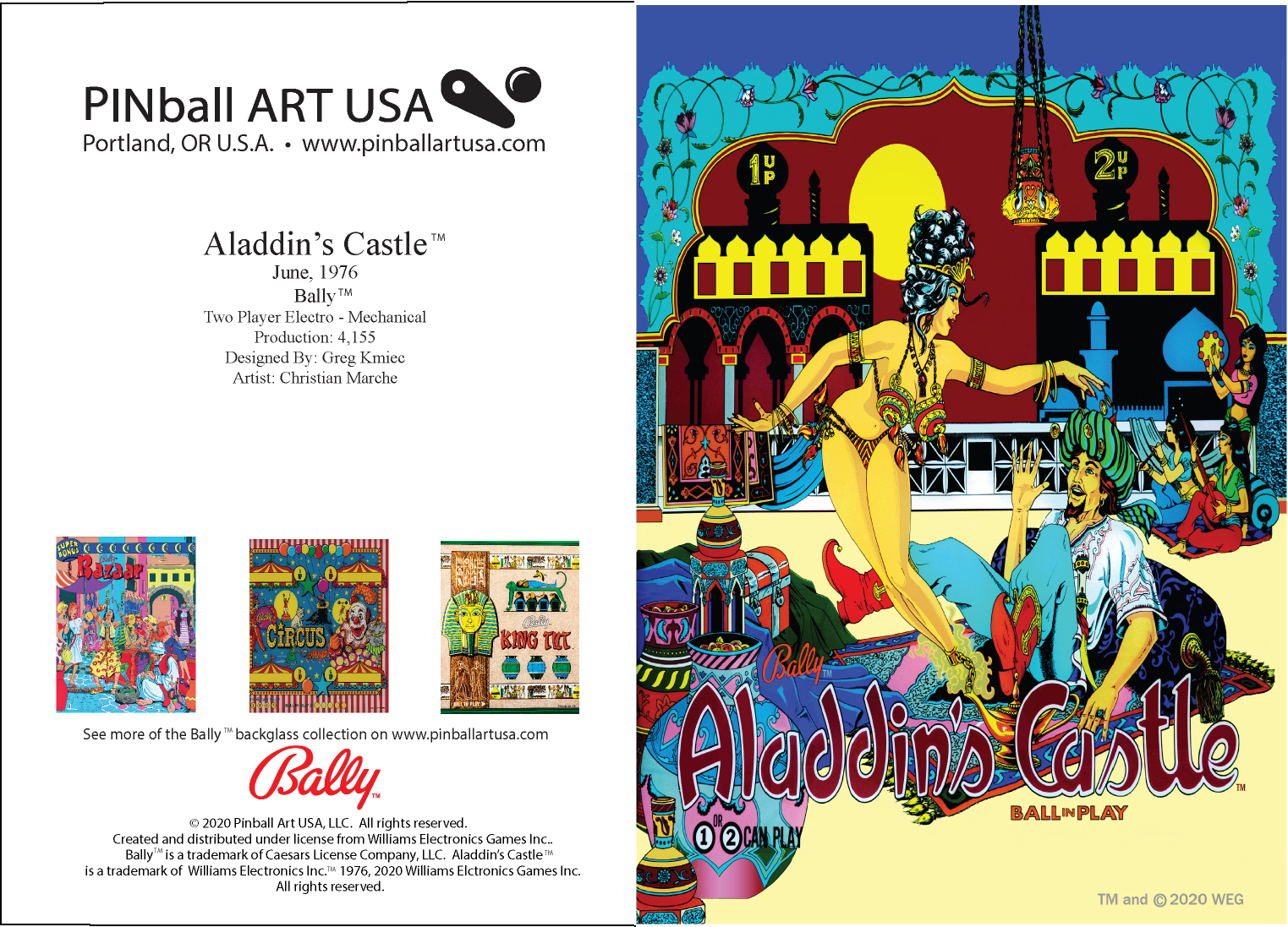 Aladdin's Castle greeting card
