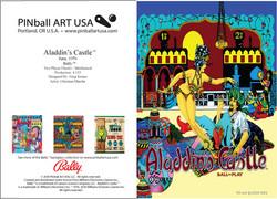 Aladdin's Castle greeting card