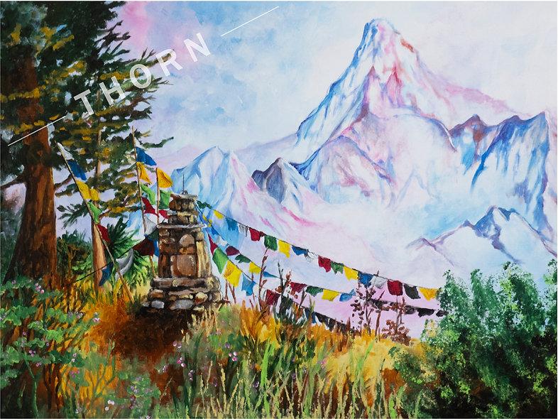 Trail Marker by Karen Thornberg