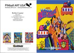 Rpller Coaster greeting card