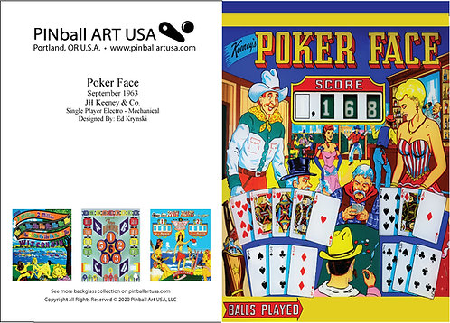Poker Face Greeting Card