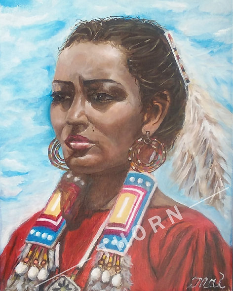 American Indian Woman by Inna Makarichev