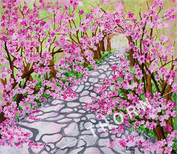 Cherry Blossom Walk by Karen Thornberg